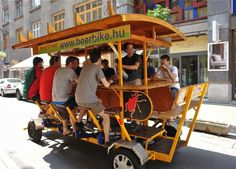 Beerbike.Streets, downtown Budapest architecture. Photo:T.Graffe