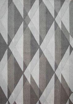 Kalora Malabar Diamond Textured Gray Area Rug Rug Size: x Sisal Carpet, Diy Carpet, Modern Carpet, Rugs On Carpet, Red Carpets, Yellow Carpet, Carpet Colors, Carpet Stores, Rug Texture