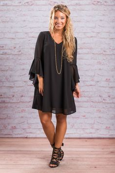C'est La Vie Dress, Black