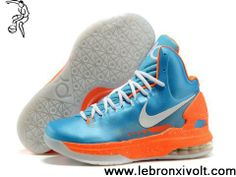 promo code 3bdf4 bf60f Wholesale Cheap Nike Zoom KD 5 V Blue Orange White Basketball Shoes Latest  Now Nike Lebron