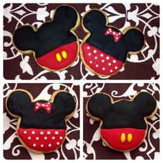 Mickey & Minnie Mouse cookies.