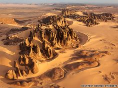 """Tassili du Hoggar, Algeria  """"Inakashaker -- named after a kind of local bush in Tuareg language -- is an area of beautifully eroded rock five hours drive southeast of Tamanrasset, in the Tassili du Hoggar."""""""