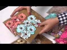 Little Birdie Crafts Denim Button Flower