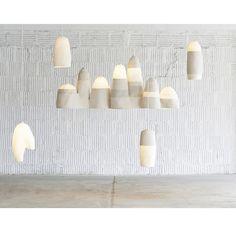 Coiled cord pendants by Doug Johnston