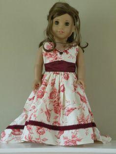 Victorian Dress fits 18 Inches doll fit american girl Rebecca Caroline Samantha