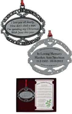 Personalized Merry Christmas From Heaven Ornament Bereavement Gift