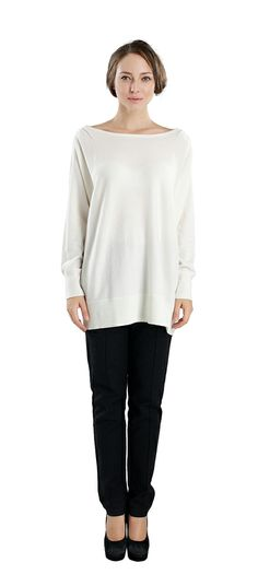 #Tunic_ Cashmere_ Sweater -  These dress is a  graceful boatneck silhouette and ruches detailing at the shoulders infuse this tunic cashmere sweater with feminine flair. Its hemline is mid-thigh length. For more information visit here: http://zynnicashmere.com/tunic-pullover.html