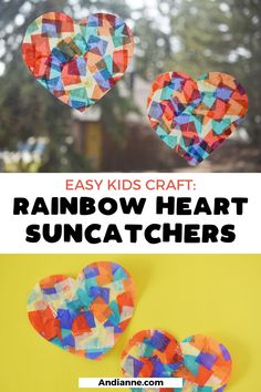 Heart Suncatcher Craft — Mom Printables - Simplifying Motherhood and Family Recipes Spring Art Projects, Easy Art Projects, Craft Projects For Kids, Kids Crafts, Winter Crafts For Kids, Summer Crafts, Easy Toddler Crafts, Toddler Preschool, Toddler Meals