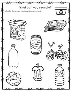 Recycling Items Like Computers & TVs – Recycling Information Social Studies Worksheets, Free Kindergarten Worksheets, Kindergarten Lessons, School Worksheets, Worksheets For Kids, Earth Day Activities, Sorting Activities, Montessori Activities, Activities For Kids