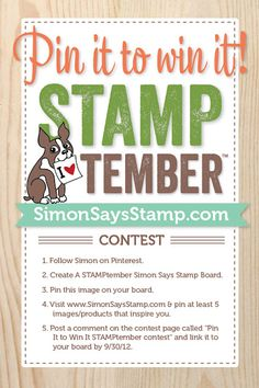 Simon Says Stamp Blog!: Special Pinterest Contest for the ENTIRE month of STAMPtember™!!