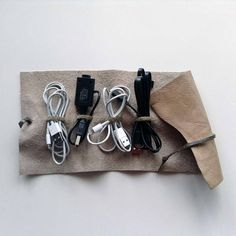 Your place to buy and sell all things handmade Cord Holder, Cord Organization, Cable Organizer, Stocking Fillers, Leather Accessories, Bud, Gifts For Him, Soft Leather, Phone