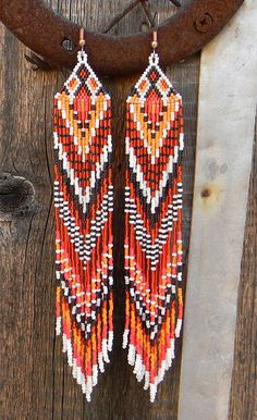 Extra Long Native American Style Seed Bead by Anabel27shop