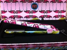 """PYT Flat iron straightenenr - Banana Flamingo by PYT. $42.80. 1.25"""" inch 100% high grade ceramic plate. Adjustable Temp 140-450F. Easy grip. Floating plates. Dual Voltage. Ceramic Styling Tool"""