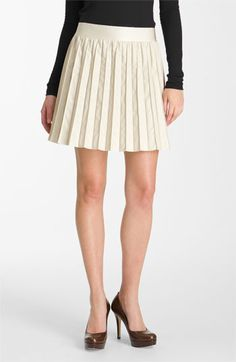 Saw this in the store- pretty sure it's the best thing EVER. Hinge® Faux Leather Pintuck Skirt available at #Nordstrom