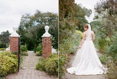 Oatlands Historic House & Gardens- Stunning bride posing before her garden ceremony; outdoor wedding at an historic estate in Loudoun County, Virginia. Kristen Gardner Photography.