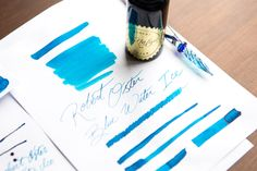 Cool down this summer with a brand new fountain pen ink! Check out Robert Oster Blue Water Ice. This uniquely blue ink features a hint of red sheen. Plastic Vials, Goulet Pens Company, Famous Wines, All Nature, Fountain Pen Ink, Pet Bottle, Ink Cartridges, Markers, Color Blue