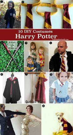 Cosplay Harry Potter 10 DIY Harry Potter Costume tutorials and free patterns Harry Potter Kostüm Diy, Cosplay Harry Potter, Cumpleaños Harry Potter, Harry Potter Birthday, Hermione Halloween Costume, Hermione Costume, Diy Halloween Costumes, Bellatrix Costume, Hogwarts Costume