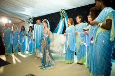 Somali Wedding Sari but i want in purple and white! Wedding Sari, Blue Wedding, Wedding Dresses, Wedding Prep, Wedding Ideas, Hair Styel, Teal, Turquoise, Purple