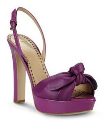 Moschino Cheap & Chic - Mauve - Platform Pumps - Bow detail - Front View - Spring / Summer 2013