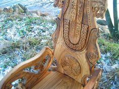 viking carving wood