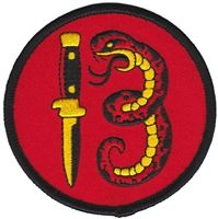 Embroidered Snake 13 Patch by Sourpuss Clothing