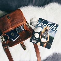 @indiekayla's beautiful leather Bowery bag and the debut issue of @electrifymag.