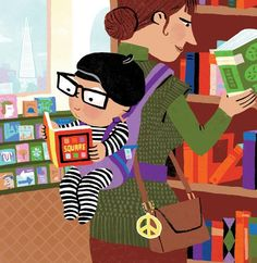 Illustration from the book Violet Lemay for the book San Francisco Baby