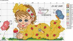 Frozen Cross Stitch, Cross Stitch Owl, Baby Cross Stitch Patterns, Cross Stitch Charts, Christmas Cross, Baby Crafts, Cute Pattern, Embroidery, Comics