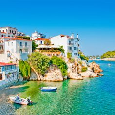 Go Island Hopping in the Sporades with Olympic Holidays. Explore the eastern coast of Greece, Skiathos, Skopelos and Alonissos. Best Greek Islands, Greece Islands, Greece Itinerary, Greece Travel, Skopelos, Skiathos Island, Vacation Places, Tours, Travel Destinations
