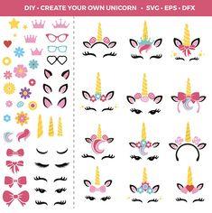 Diy Unicorn Party, Unicorn Crafts, Unicorn Birthday Parties, Birthday Ideas, Paper Crafts Origami, Paper Crafts For Kids, Unicorn Head, Cute Unicorn, Fete Emma