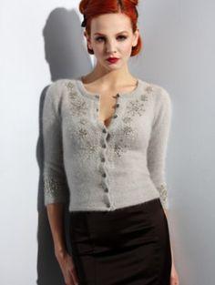 I just love this cardigan ('Wheels & Dollbaby'), especially on a redhead... #fashion #vintage