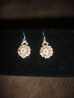 Elegant Trio Earrings, handmade jewelry by Mariel.