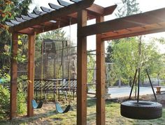 8 Hardy Cool Tips: Cute Backyard Garden Fence rustic backyard garden tiny house.Rustic Backyard Garden String Lights backyard garden on a budget cinder blocks. Backyard Playset, Backyard Swings, Backyard Playhouse, Pergola Swing, Backyard Playground, Backyard For Kids, Pergola Kits, Backyard Play Equipment, Backyard Jungle Gym