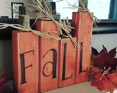 Happy Fall Decor reclaimed wood Pumpkin painting Pumpkin wooden Fall\Autumn sign Artist Bill Miller of Miller's Art Great Halloween decor Fall Wood Crafts, Halloween Wood Crafts, Wood Block Crafts, Wooden Crafts, Holiday Crafts, Wooden Pumpkin Crafts, Wood Blocks, 4x4 Crafts, Primitive Fall Crafts