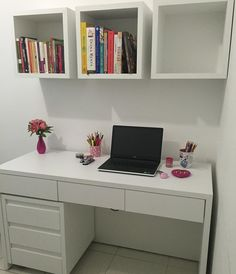 Home office design ideas 1 Bedroom Closet Design, Home Room Design, Girl Bedroom Designs, Small Room Bedroom, Home Office Design, Home Office Decor, Home Decor Bedroom, Study Room Decor, Cute Room Decor
