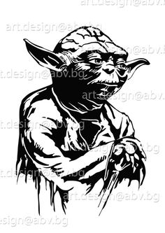 Star Wars Stencil, Stencil Art, Star Wars Art, Blue Ghost Rider, Yoda Drawing, Star Wars Painting, Star Wars Drawings, Black White Tattoos, Scratch Art