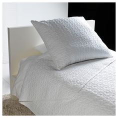 ALINA Bedspread and cushion cover - Twin/Full (Double) - IKEA I love white in the bedroom!! #IKEADreamBedroom