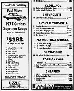Oldsmobile Cutlass Supreme, Buick, Cadillac, Classic Cars, Ads, Vintage Classic Cars, Classic Trucks