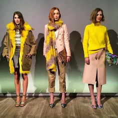Yellow, blush and khaki made for an unexpected hit at #JCrew