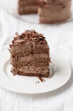 chocOlate torte with chocolate cream. CRAVING IT RIGHT NOW! Any chocoholic out there?