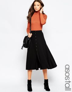 Discover midi skirts with ASOS. Shop from a range of pleated, A-line skirts, calf length skirts and other midi skirt styles. Shop today at ASOS. Basic Outfits, Skirt Outfits, Asos, Clothing For Tall Women, Clothes For Women, Midi Skater Skirt, Modest Fashion, Fashion Outfits, Fashion Trends