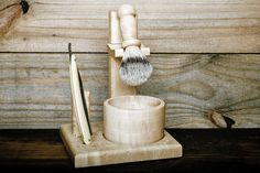 LONE WOODS MAPLE WOOD SHAVING KIT (Razor not included)  Our Shaving Kit is the perfect gift for birthdays, graduations, or even a random celebration.
