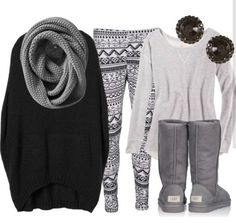 Love it all!! I would just put a skirt over the leggings!!!:)