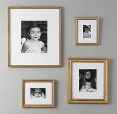 Antiqued Gilt Wood Frames