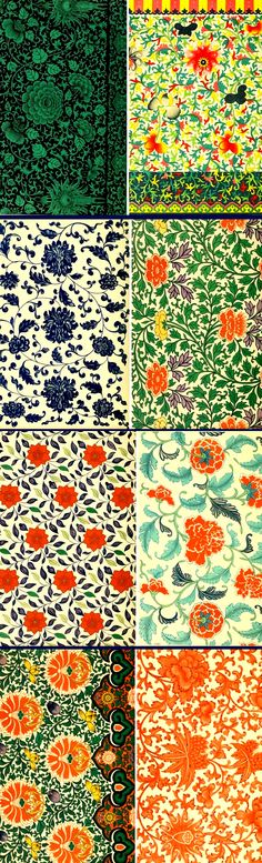 complimentary colors, oriental, floral, embroidery, romantic, full, bright