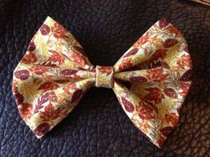 It is officially FALL! Autumn themed bows were just added to my Etsy shop! This is the Fall Leaves Bow! Go check it out and the others in my shop! The link is in my description!