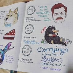 After seeing Fantastic Beasts, I really want a pet niffler #bulletjournal