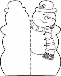 Printable Snowman Cut Outs Pictures Christmas Crafts For Kids, Christmas Activities, Xmas Crafts, Christmas Colors, Winter Christmas, Kids Christmas, Paper Crafts, Christmas Worksheets, Christmas Templates