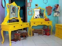 Ateliando - Customização de móveis antigos: Galeria Penteadeiras Antigas    Penteadeiras para cenário RJ