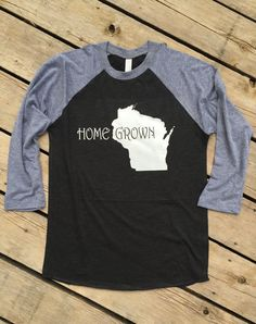 715fef461d5 Home State Homegrown Tri-blend Unisex 3 4 Sleeve Baseball Tee Raglan T-Shirt